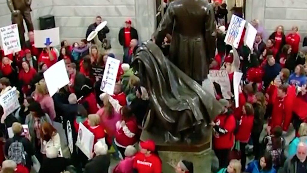 teacher protest, kentucky