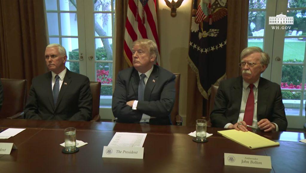 Trump, Pence, Bolton