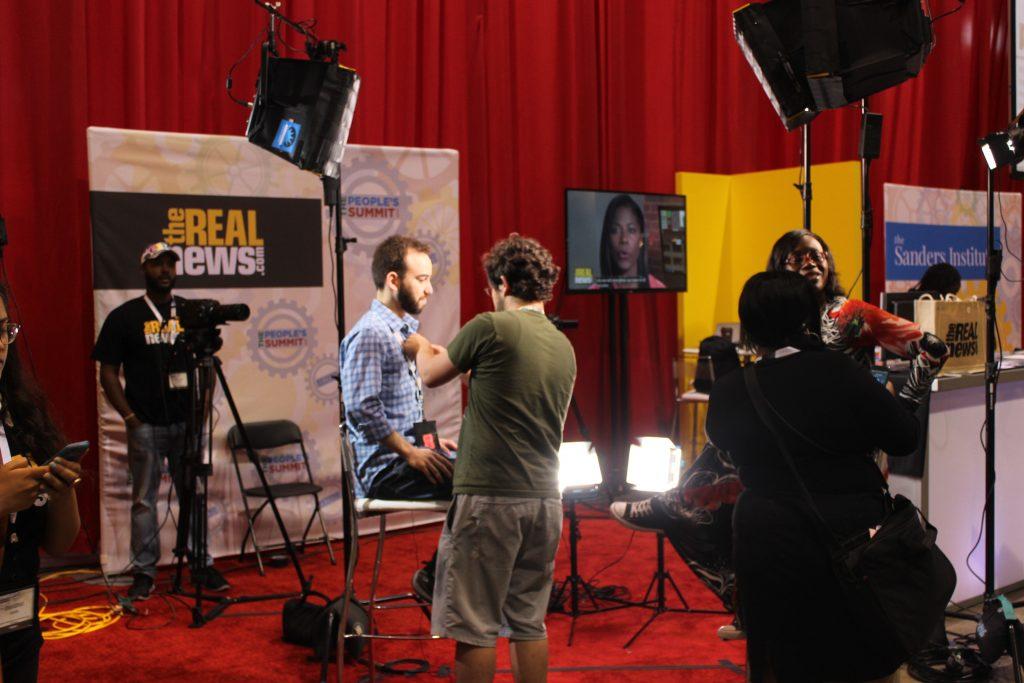 TRNN Interview Setup - People's Summit