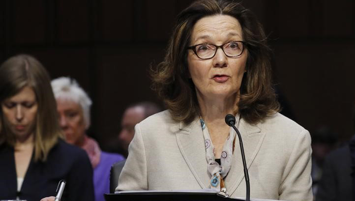 Acting CIA Director Gina Haspel testifies at her Senate Intelligence Committee confirmation hearing on Capitol Hill in Washington, U.S., May 9, 2018. REUTERS/Aaron P. Bernstein