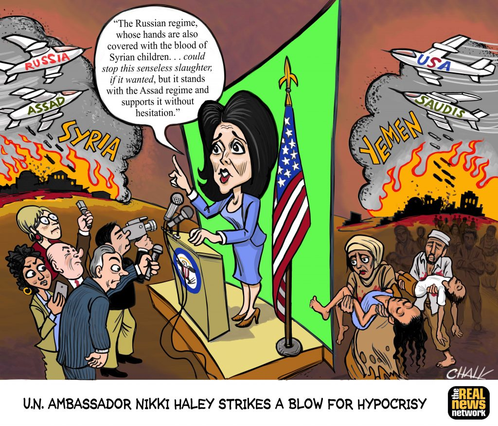 Nikki Haley Strikes a Blow for Hypocrisy Cartoon
