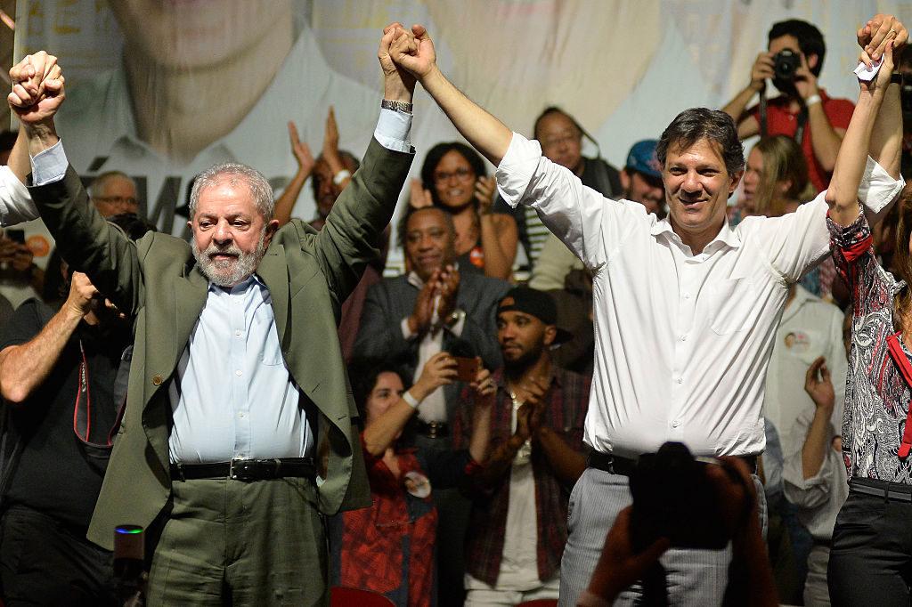 Lula da Silva Attends PT Rally Campaign