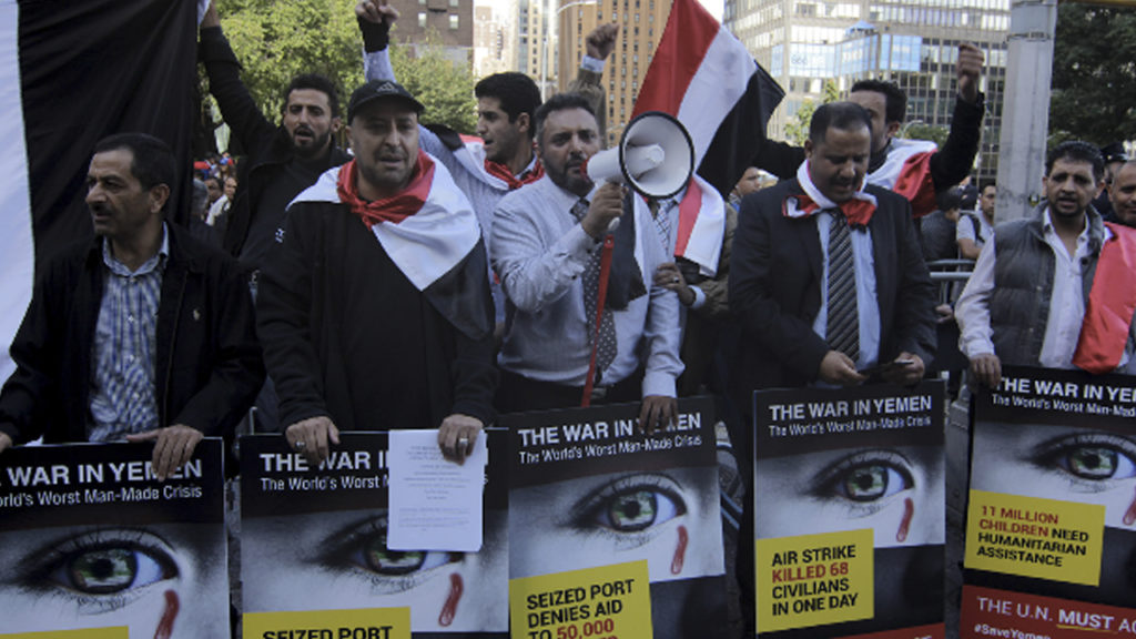 'Stop the War!' - Yemeni-Americans Condemn Trump and Saudi Arabia Outside UN