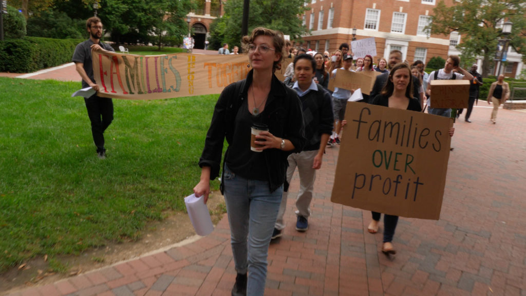Protest Targets Johns Hopkins' Multi-Million Dollar ICE Contract