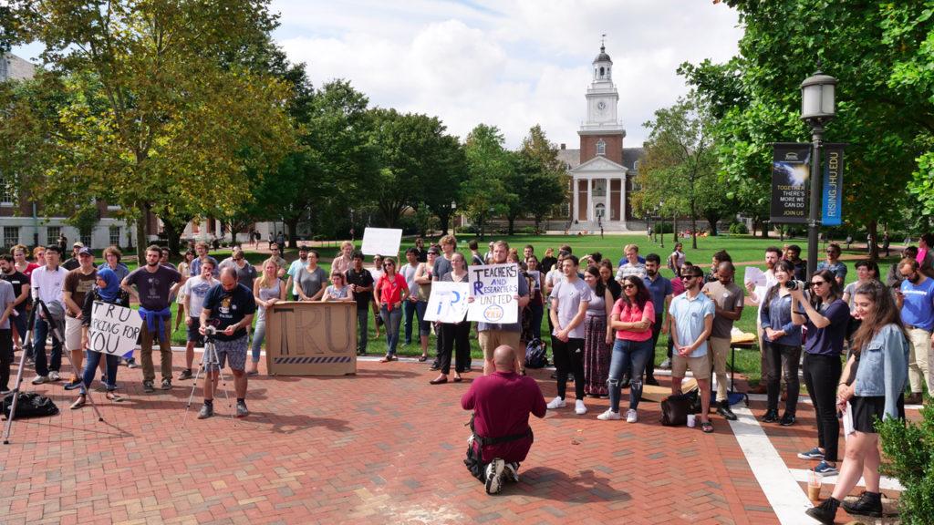 Johns Hopkins Graduate Students Launch Union Campaign