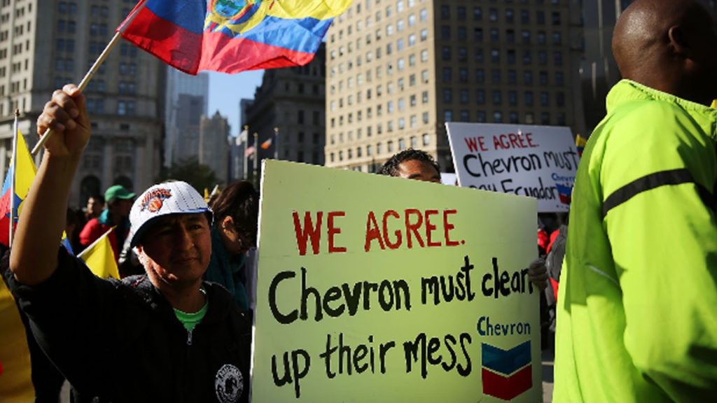 Chevron Arbitration Ruling Against Ecuador 'Completely Off Base'