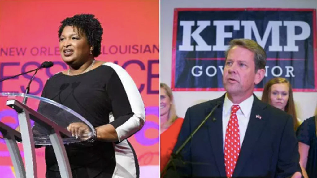 Republican Kemp's Desperate Moves to To Stop Keep Stacy Abrams in Ga Gov' Race