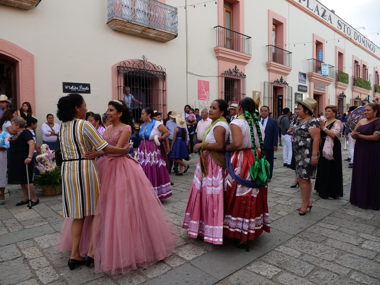 Oaxaca - while the rich always having fiesta copy