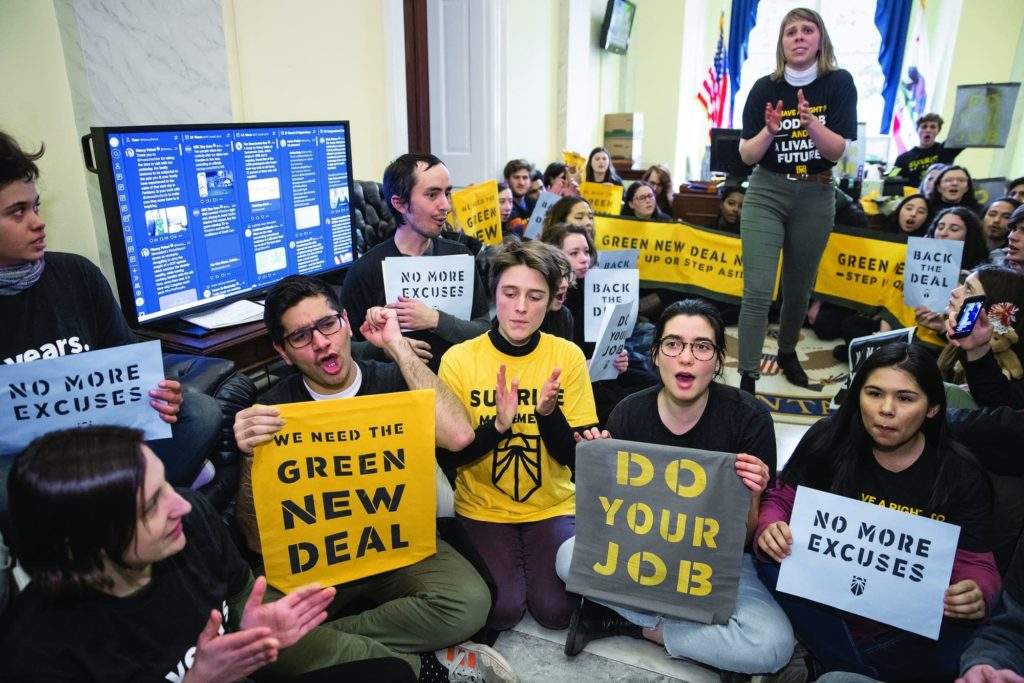 100 Young Climate Activists Storm Capitol Hill Demanding A Green New Deal