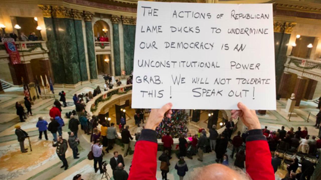 Lame Duck Republican Legislature Tries to Strip Democrats' Power