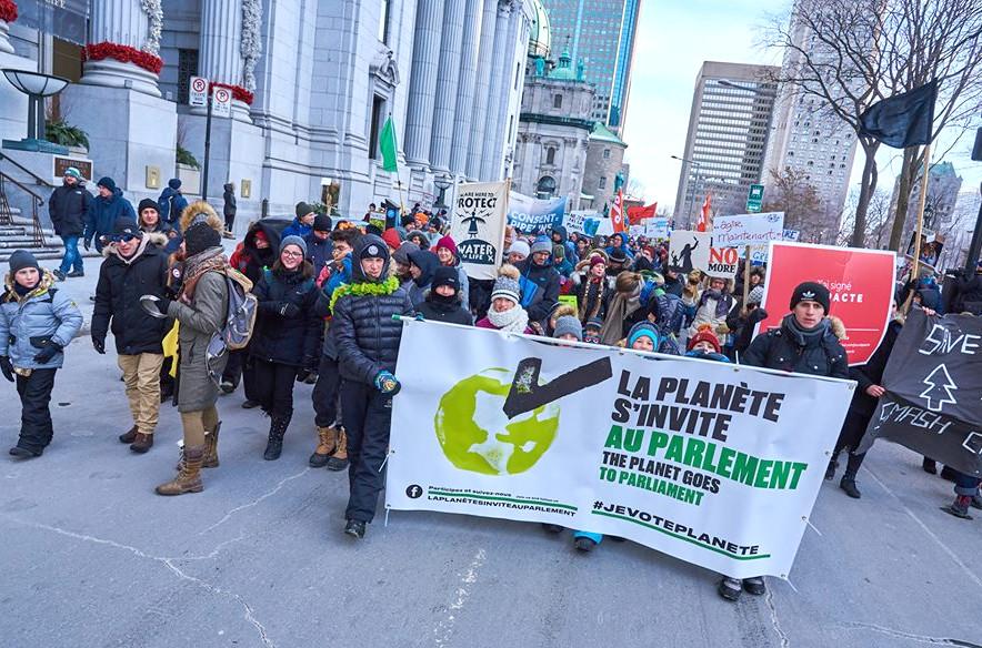 The Planet Goes to Parliament – La Planète s'invite au Parlement, Nov 10 2018, Montréal. [Photo: Yvon Monette/Facebook]