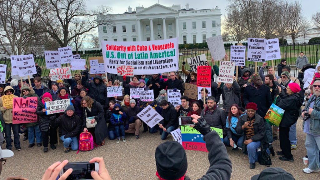 White House Protest: No Matter What You Think of Venezuela, No Intervention!