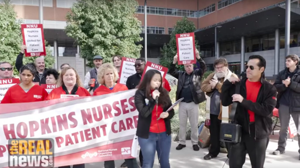 Labor Board Hearing Set for Nurses Alleging Hopkins Is Preventing Them From Unionizing