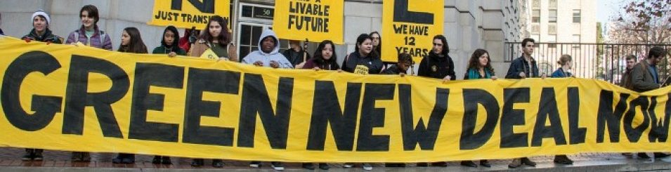 Hundreds gathered in San Francisco with the youth-led Sunrise Movement on Dec. 11. Peg Hunter / Flickr, CC BY-NC 2.0.