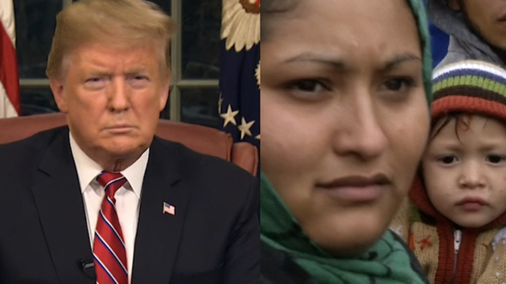 Migrant Caravan refugees respond to Trump's wall speech