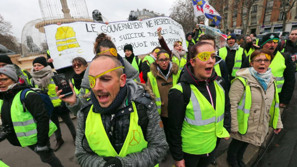 French Yellow Vest Protests Continue for 12th Week, Despite Government Resistance