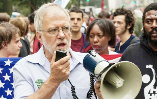 Featured image, Hawkins speaking at the People's Climate March, New York City, Sept. 14, 2014. Photo courtesy of Colin D. Young.