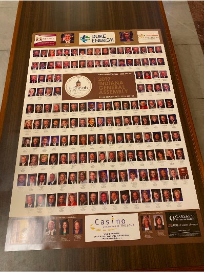 Indiana Legislature Roster; Photo Credit: Steve Horn