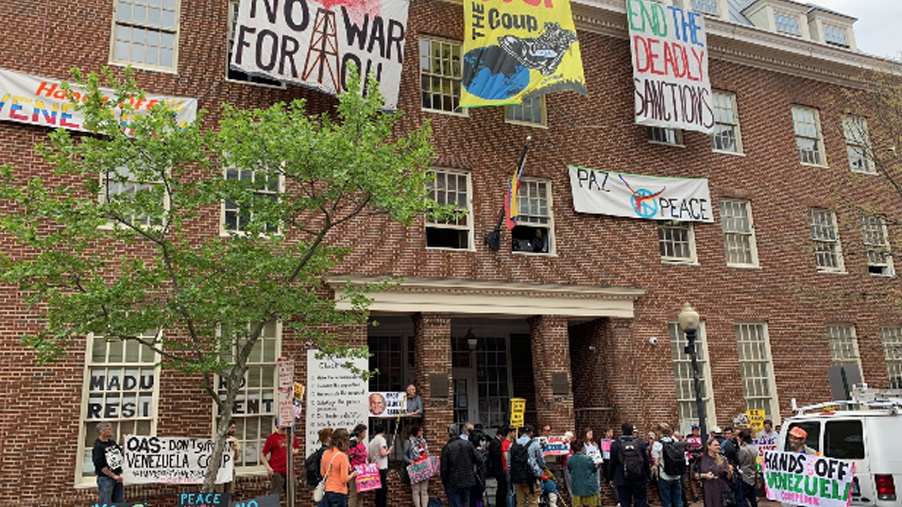 Venezuela's Embassy: Activists vs. US Government
