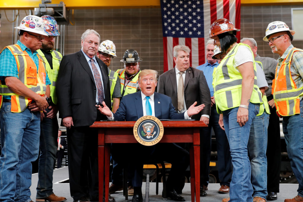 Trump Signs Executive Order with Builders