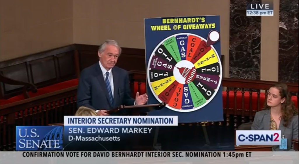 Ed Markey - Bernhardt Vote