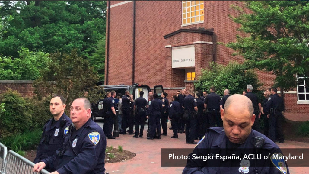 7 Arrested After Police Raid Sit-in Against Hopkins Private Police