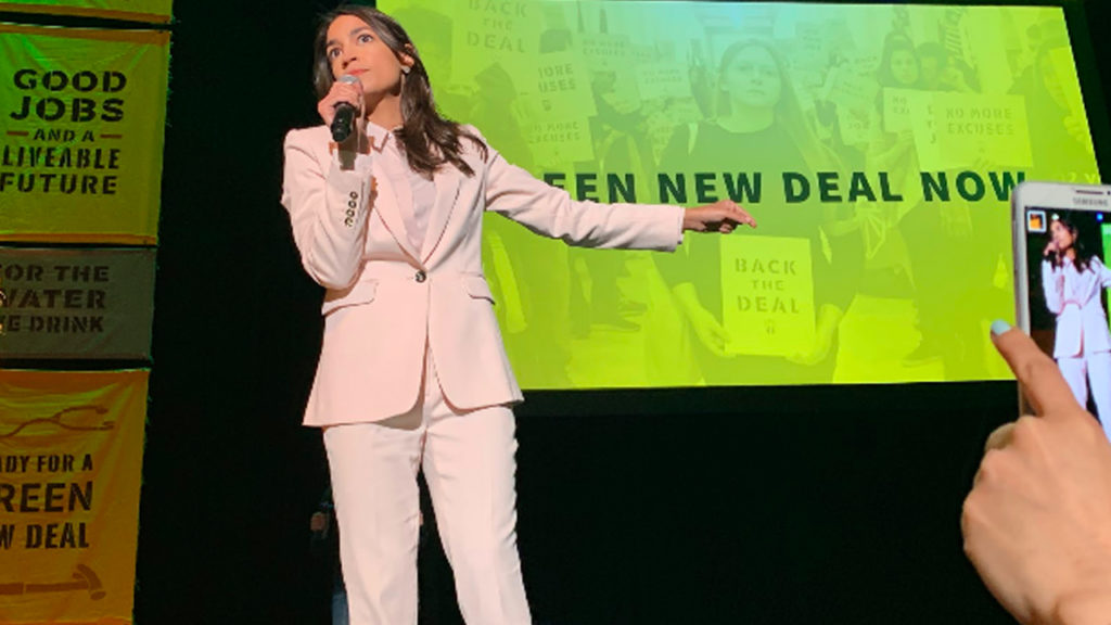 AOC & Bernie Join Sunrise Movement in DC Town Hall