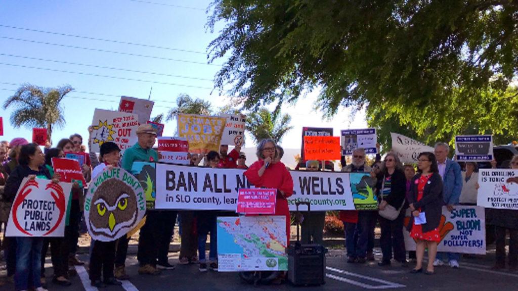 Climate Activists Protest Trump California Public Lands Fracking Plan