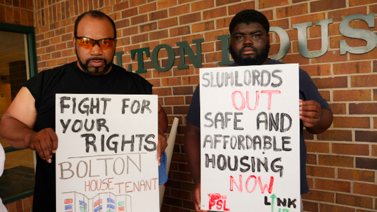 Tenants Continue to Protest Deteriorating Living Conditions at Bolton House
