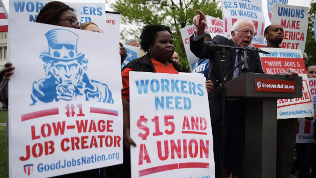 Bernie Sanders' Union Platform Calls for Class Struggle