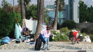 Homeless man in LA County