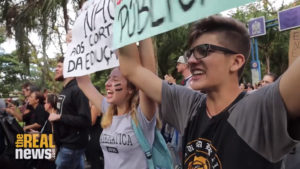 Brazilian student protesters