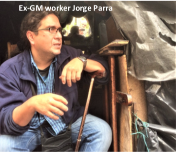 Ex-GM worker Jorge Parra
