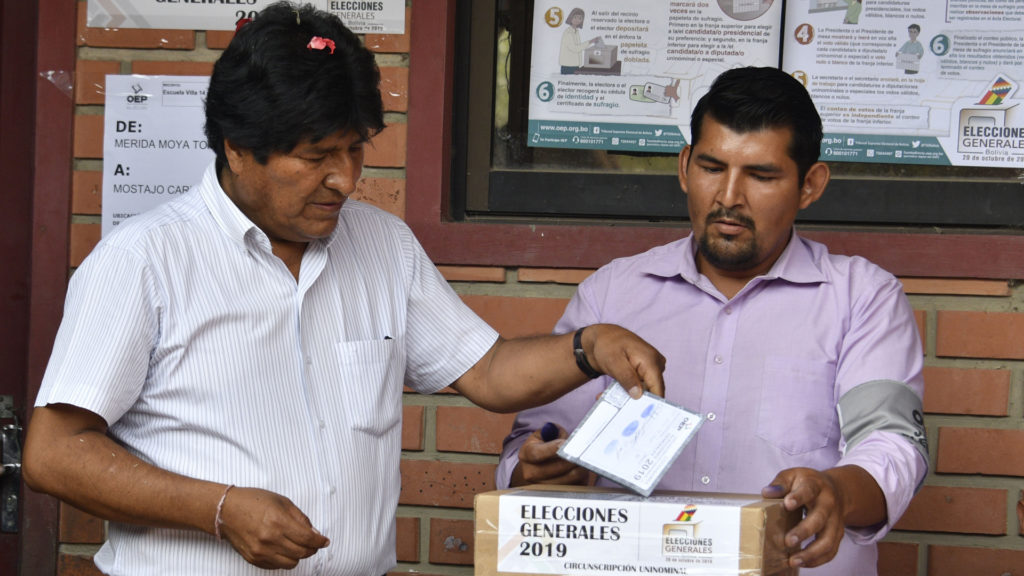 Bolivia's Morales declares himself election victor
