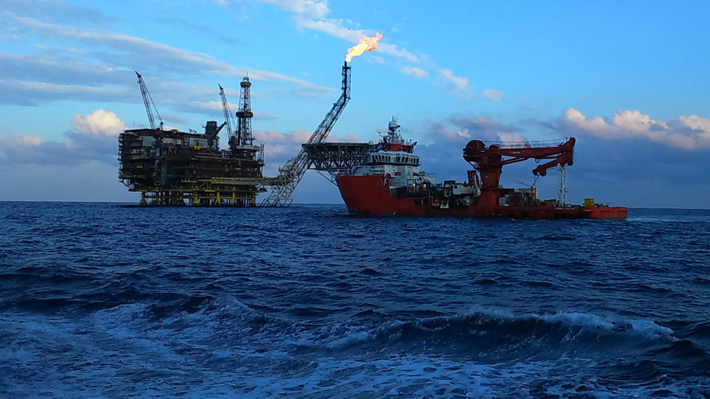 The Bouri offshore gas field in the Mediterranean Sea. Abdalrahem Omar Zaed/Wikimedia Commons (CC BY 4.0)