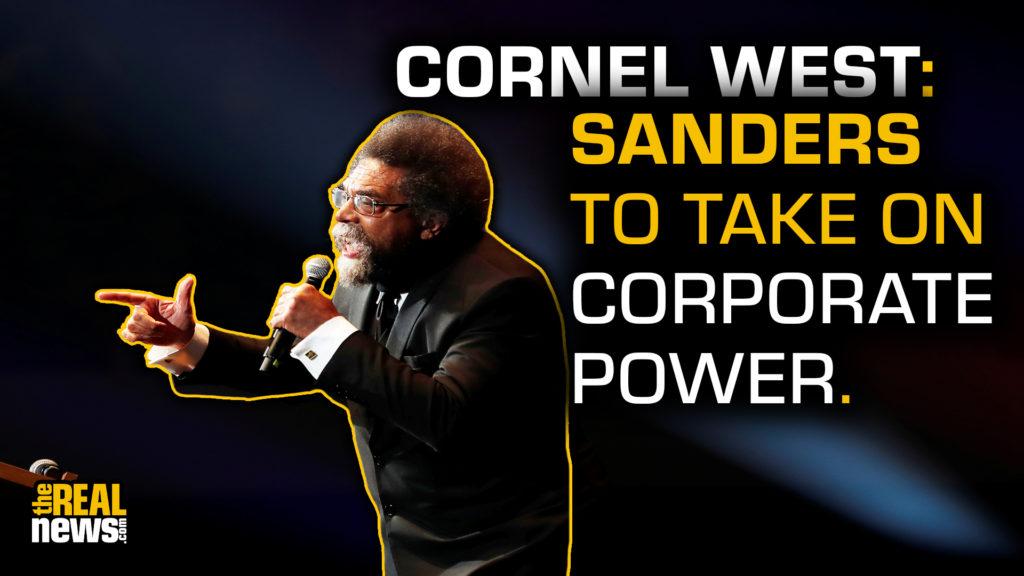 Political activist Cornel West speaks at a campaign rally for Democratic U.S. presidential candidate Senator Bernie in Cedar Rapids, Iowa, U.S., February 1, 2020. REUTERS/Mike Segar