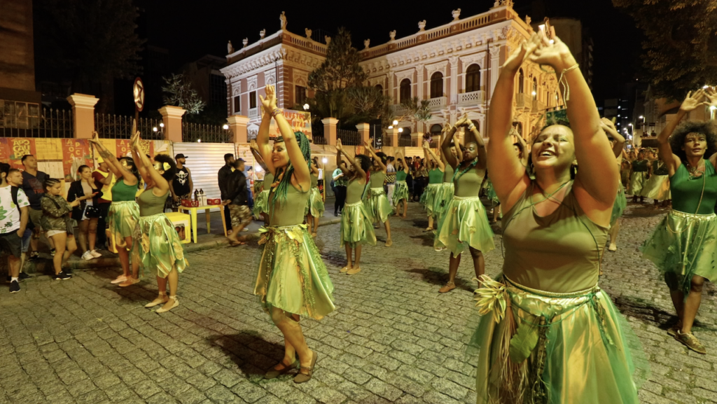 Afro-feminist carnival in Florianopolis, Brazil. Photo by Michael Fox