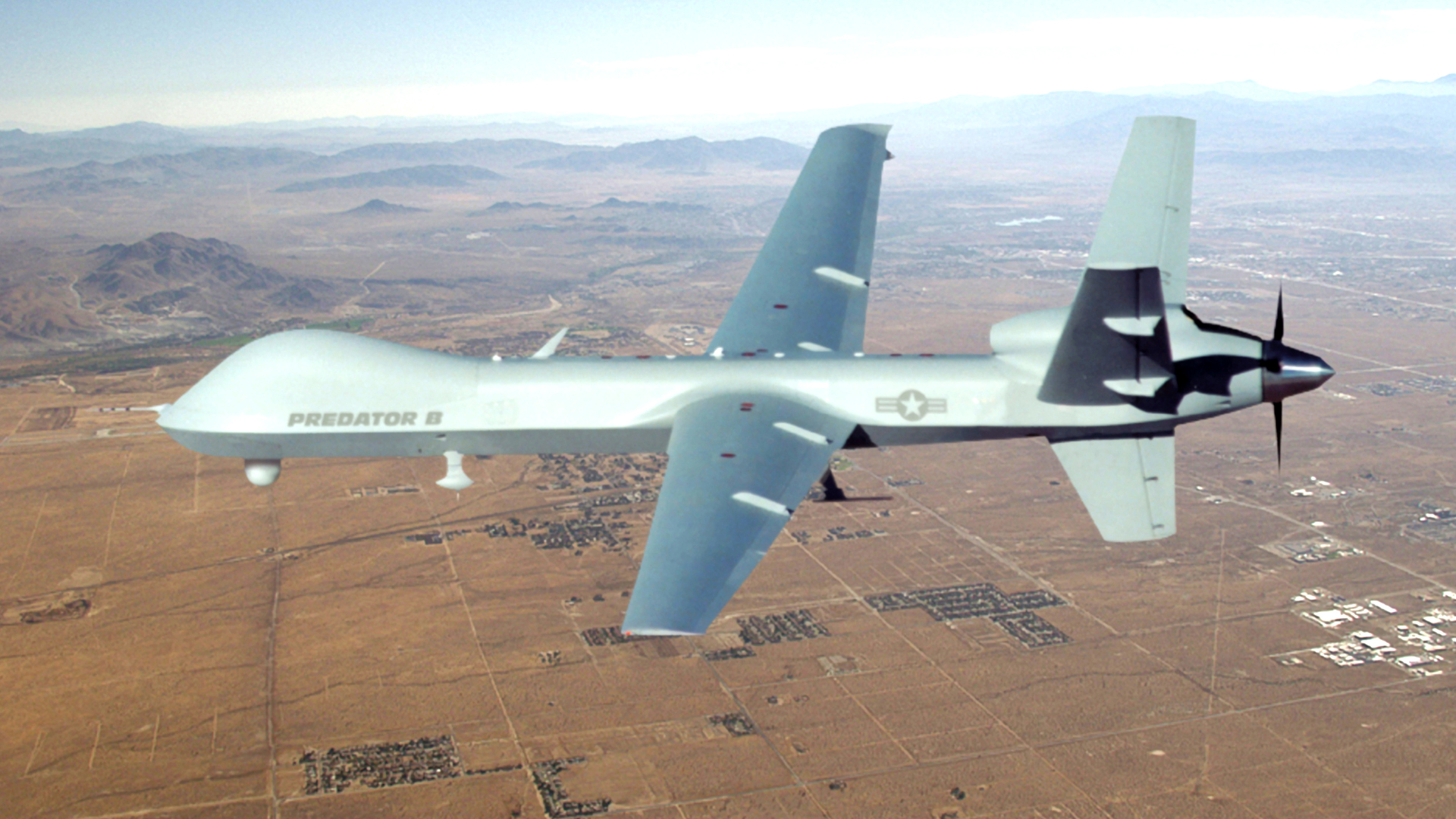 MQ-9 Reaper in flight. Image Courtesy of U.S. Air Force