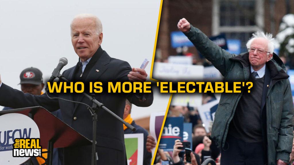 Bernie Sanders (Kena Betancur/VIEWpress/Corbis/Getty Images) and Joe Biden (Angela Rowlings/MediaNews Group/Boston Herald/Getty Images) at campaign events.