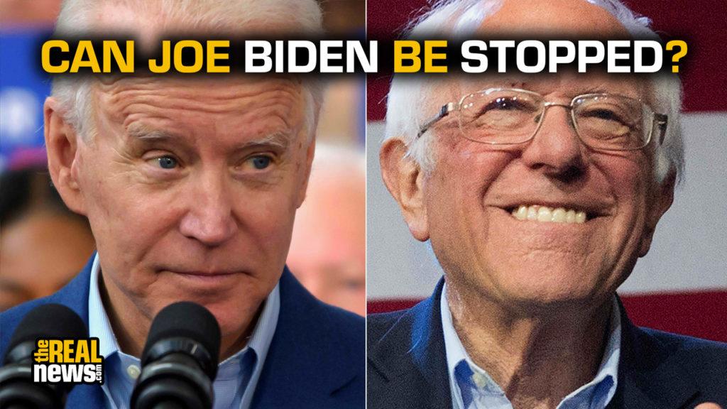 Democratic presidential candidates Joe Biden, left, and Bernie Sanders, right. USA TODAY NETWORK via Reuters
