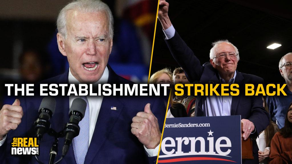 Joe Biden (Xavier Collin/Image Press Agency/Sipa USA) and Bernie Sanders (Jonathan Ernst/REUTERS)