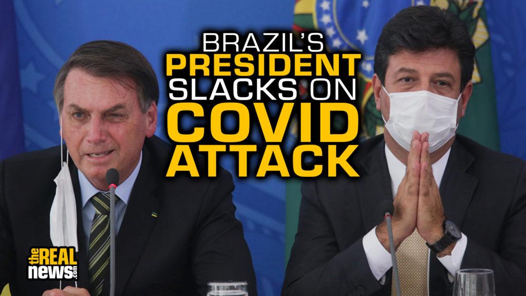 Brazilian President Jair Bolsonaro attends a Press Conference to Give Updates on the Coronavirus (COVID-19) Outbreak