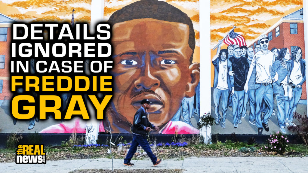A mural depicting Freddie Gray and the uprisings following the death of Freddie Gray in the custody of Baltimore police sits on N. Mount Street in the Sandtown-Winchester neighborhood of West Baltimore on Sunday, November 15, 2015, in Baltimore, MD. Jahi Chikwendiu/The Washington Post via Getty Images