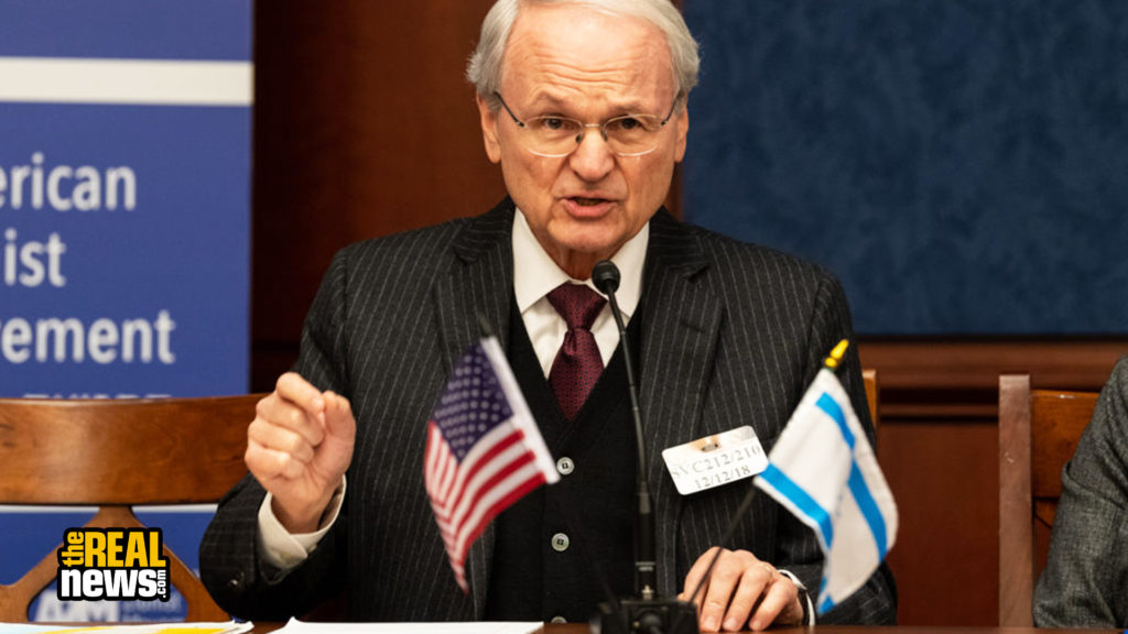 WASHINGTON, DC, UNITED STATES - 2018/12/12: Morton Klein (Mort Klein), President of the Zionist Organization of America, at the American Zionist Movement / AZM Washington Forum: Renewing the Bipartisan Commitment Standing with Israel and Zionism in the Capitol Visitor Center in Washington, DC. Michael Brochstein/SOPA Images/LightRocket via Getty Images