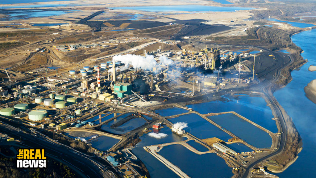 Oilsands Refinery - stock photo A large oil refinery in Alberta's Oilsands project. Fort McMurray, Alberta.